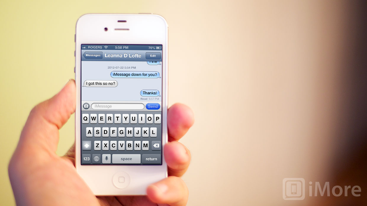 Is iMessage down for you?
