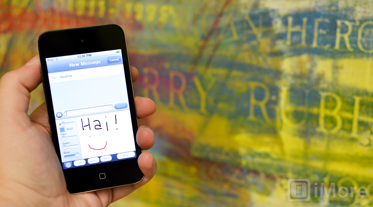 Draw and handwrite iMessages and texts with Grafiti for iPhone [jailbreak]