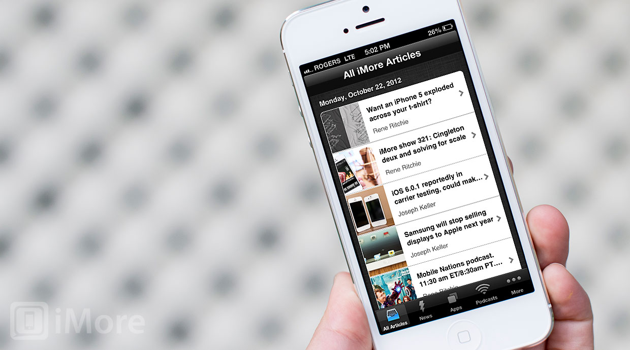 Official iMore app gets updated for iPhone 5, adds Launch Center Pro support