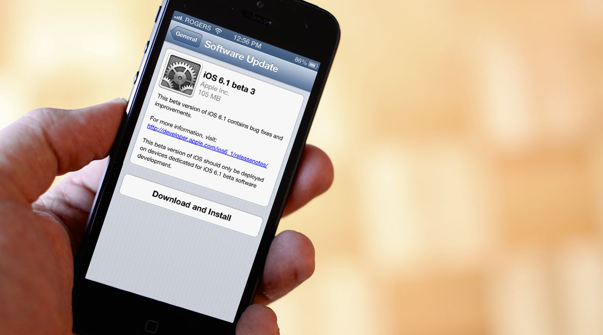 Apple seeds iOS 6.1 beta 3 to developers