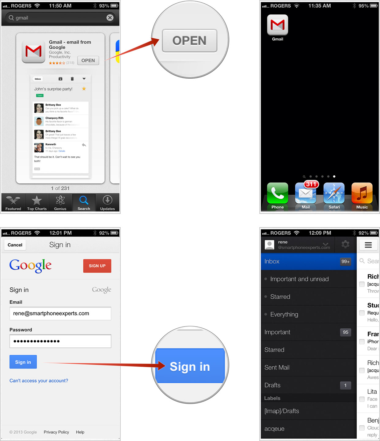 How to set up the Gmail app