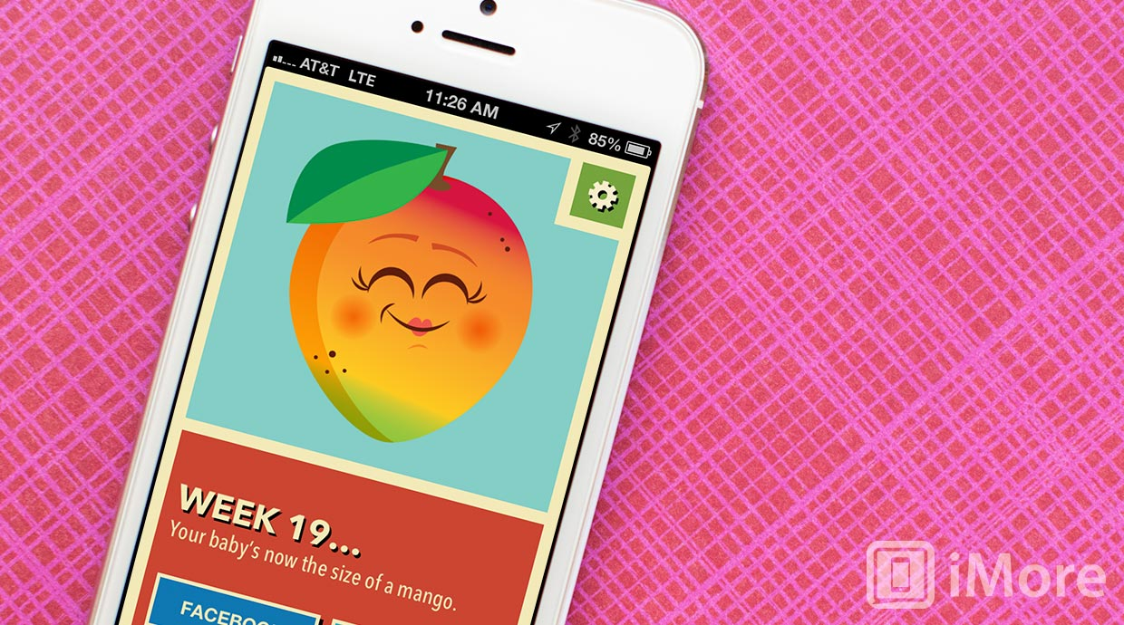 Track your baby's growth progress with Cute Fruit for iPhone