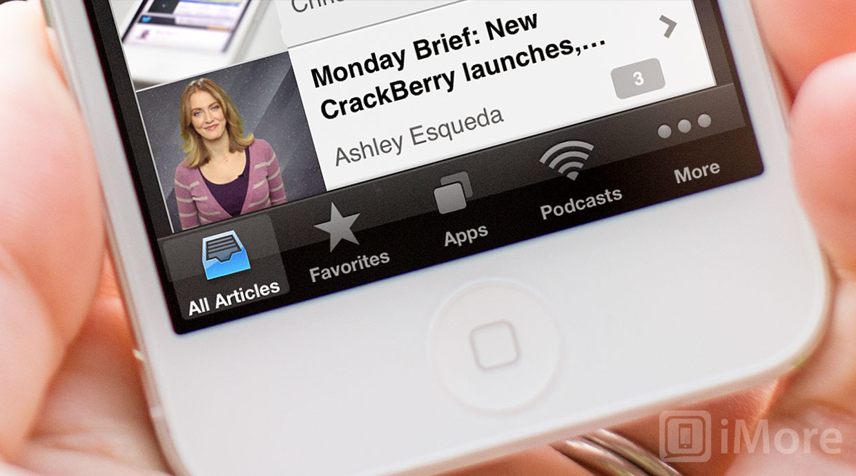 How to customize navigation tabs in the iMore app for iPhone