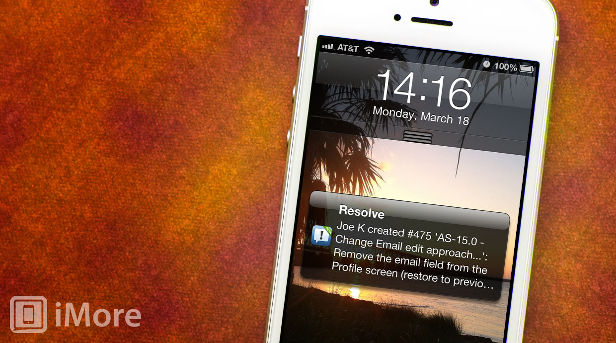 Resolve App for LighthouseApp lets you track your software support issues on the go