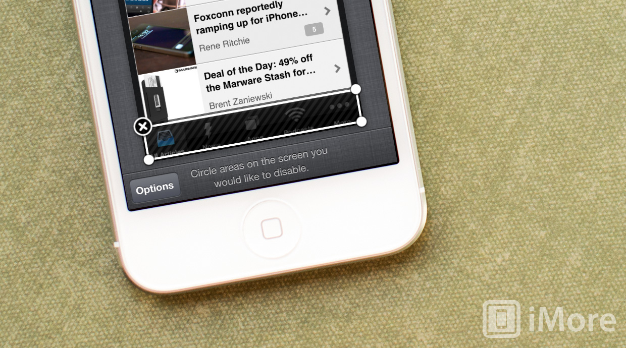 How to disable access to certain areas of the screen with Guided Access for iPhone and iPad