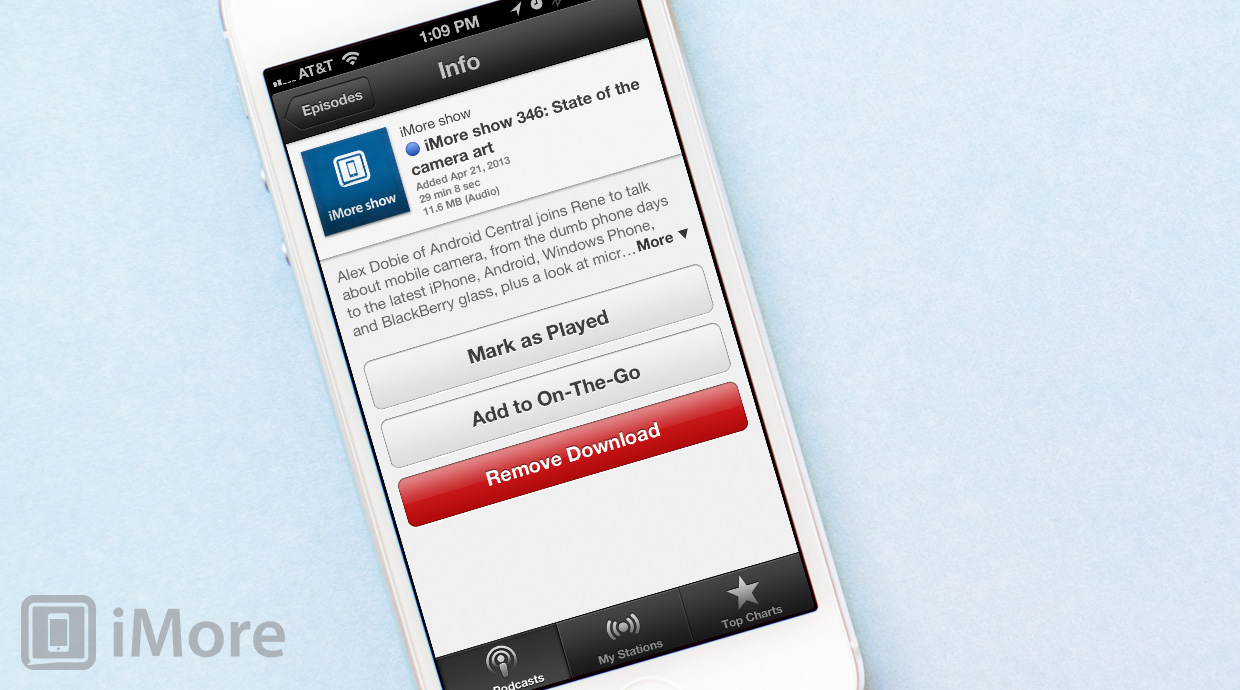 How to mark a podcast as already played with the Podcasts app for iPhone and iPad