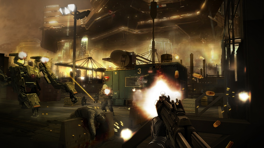 Deus Ex: The Fall prevents jailbreakers from firing weapons