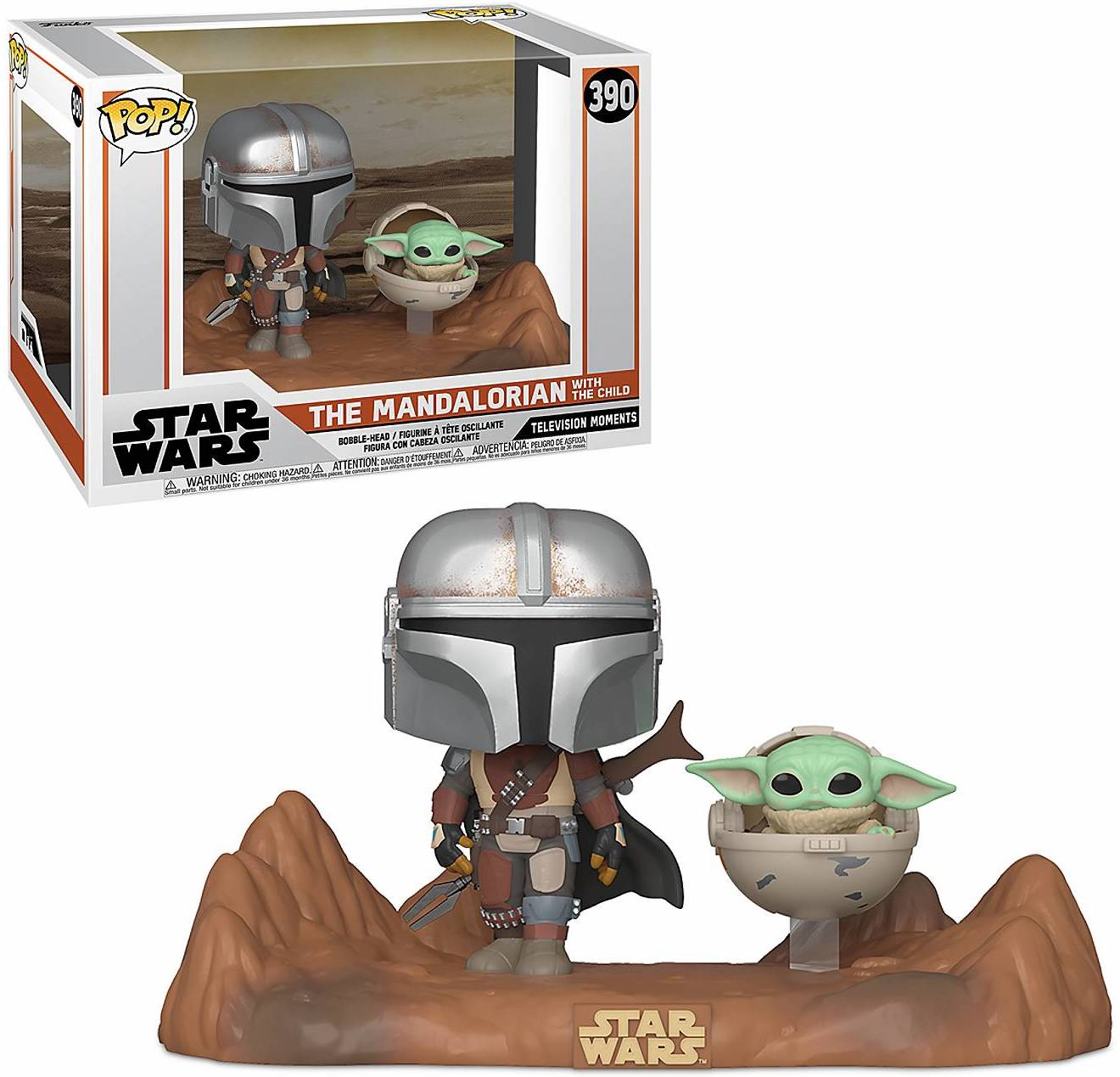 Star Wars: The Mandalorian Mando and The Child Pop! Vinyl Bobble Head Figure