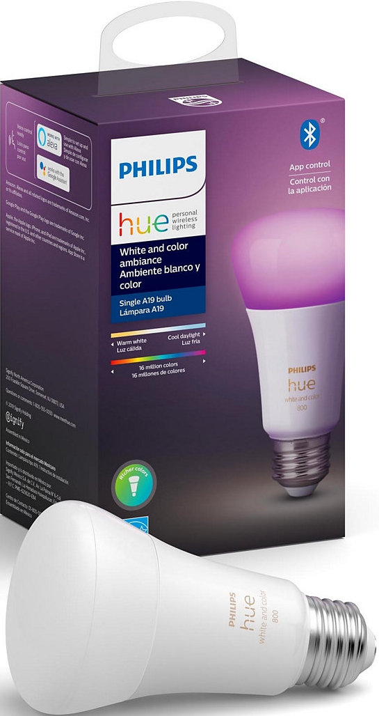 Philips Hue White And Color Ambiance A19 Light Bulb