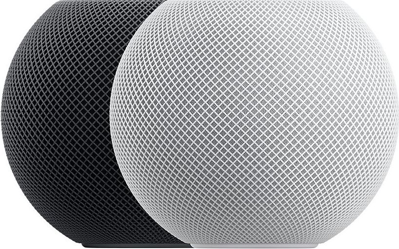 Apple HomePod mini in white and space gray