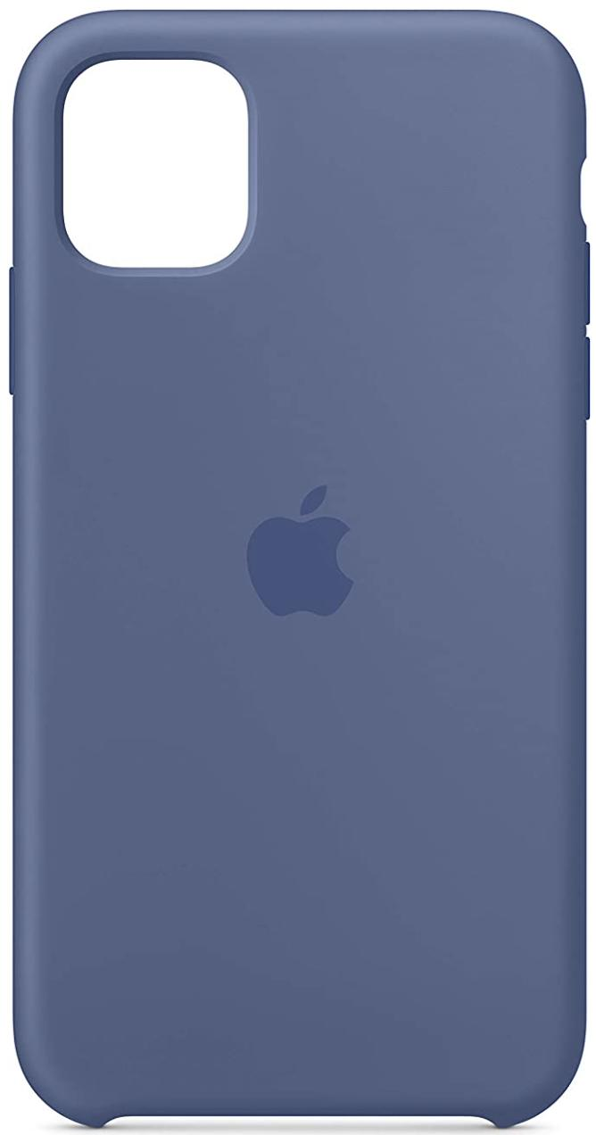 Apple Silicone Case Iphone 11 Linen Blue Render Cropped