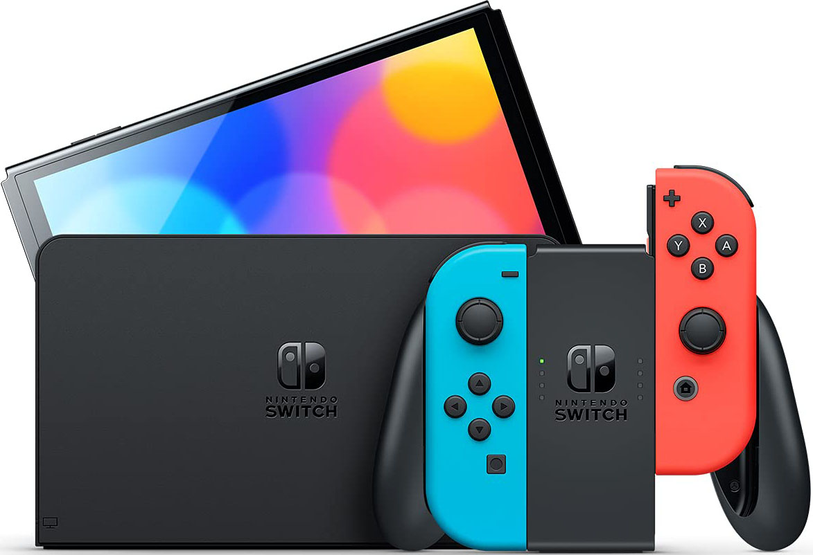 Nintendo Switch Oled Model Neon Red And Neon Blue