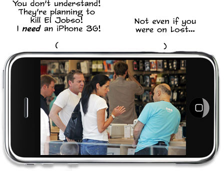 Kiefer Sutherland Demands iPhone 3G. Doesn\'t Get Jack