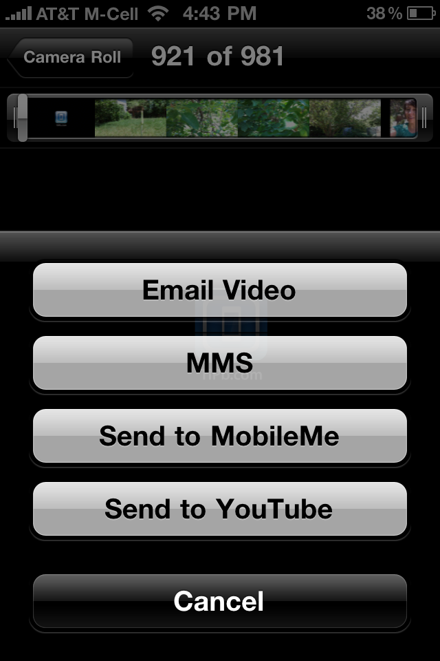 how to send hd videos from iphone