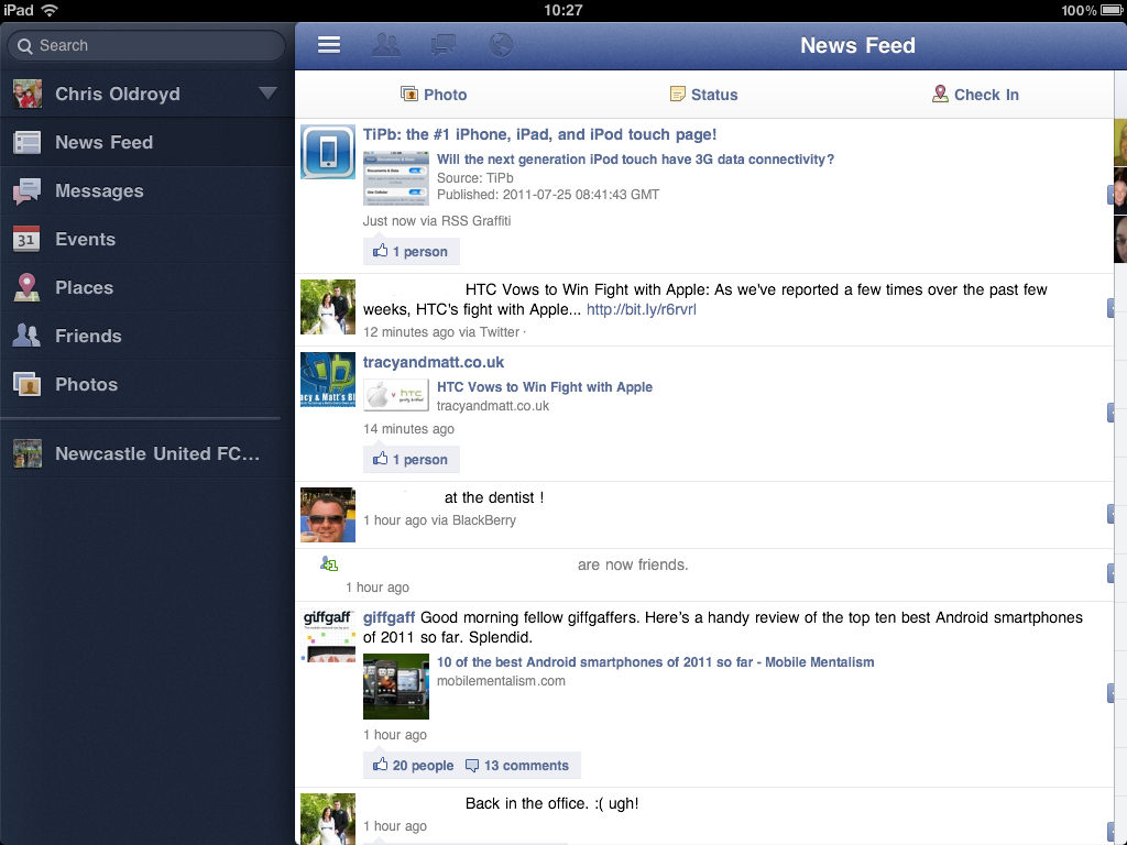 Facebook for iPad found hidden in the latest iPhone app