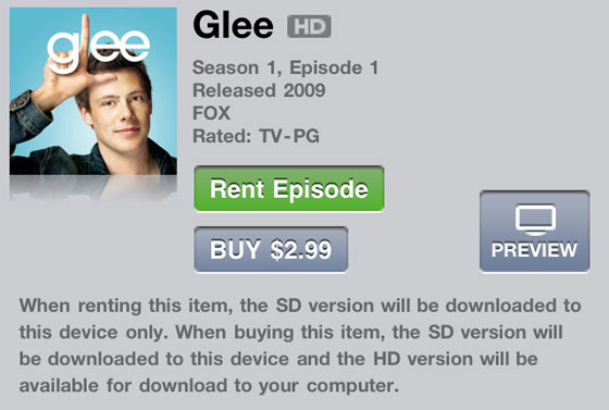 Apple shuts down $0.99 iTunes TV show rentals