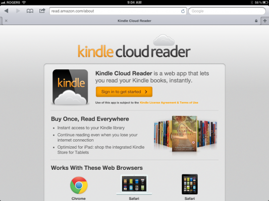 Amazon announces Kindle Cloud Reader