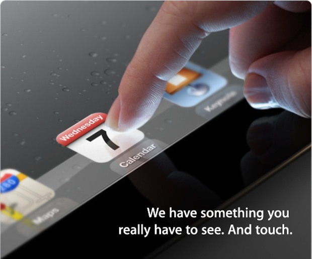 Apple iPad event set for March 7, 10am PT