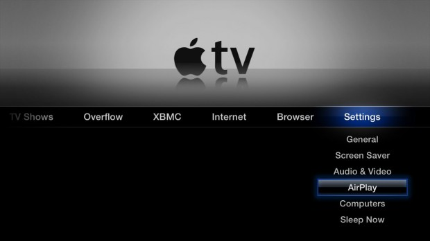 AirPlay Setup Apple TV
