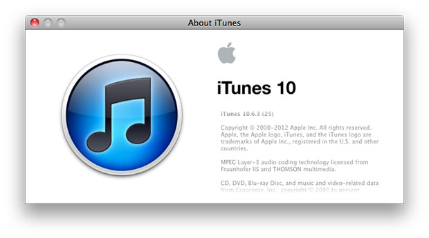 latest version of itunes 10.6.3