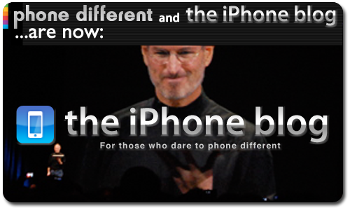 Phone different and the iPhone Blog Merge!
