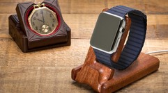 Pad & Quill's Apple Watch charging stands are hewn from solid wood
