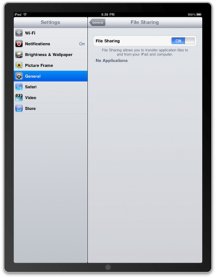 iPhone 3.2 Beta 2 SDK iPad Simulator Settings File Sharing