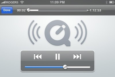 Quicktime streaming iPhone