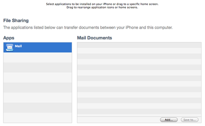 iOS beta 3 file transfer via iTunes sync
