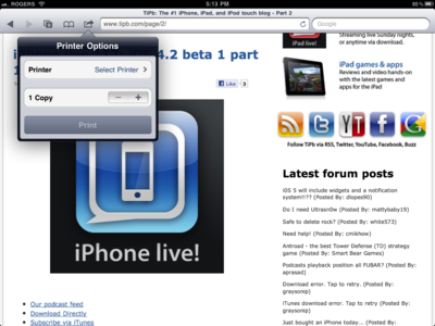iOS 4.2 features: AirPrint for iPhone, iPad goes wireless ...