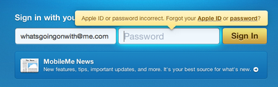 iOS 4.2 bugs: Having problems with MobileMe password?
