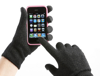 iPhone with Gloves
