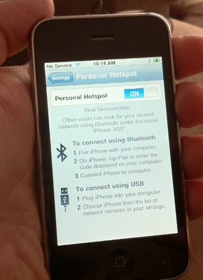 iOS 4.3 features: Wi-Fi personal hotspot on iPhone 3GS