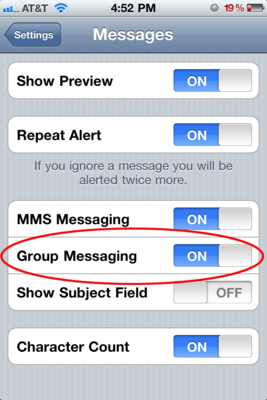 Group Messaging 92