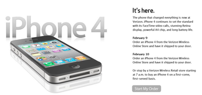 Verizon iPhone now available for order online