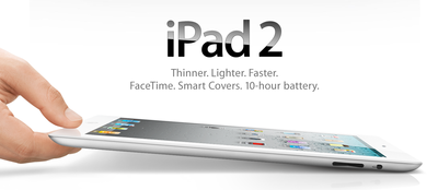 Apple introduces iPad 2, ships March 11