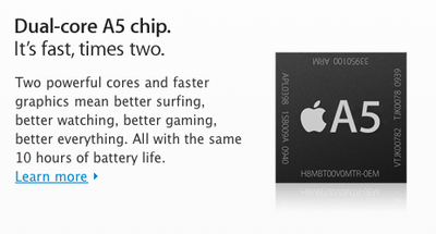 Apple A5 chip -- what we know and what we guess
