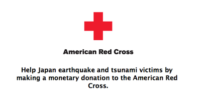 Donate to Japan earthquake and tsunami relief via iTunes