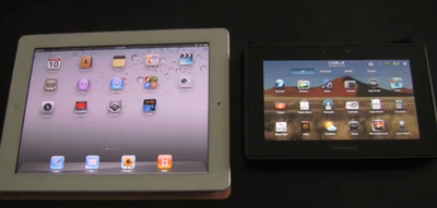 iPad 2 vs. BlackBerry PlayBook browser battle!