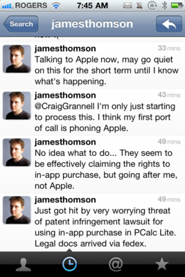 iOS developers being threatened with in-app purchase patent infringement?