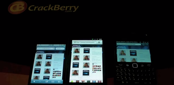 iPhone 4 vs. BlackBerry Bold 9900 (and Nexus S) browser battle!