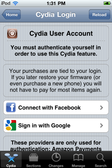 Cydia account main