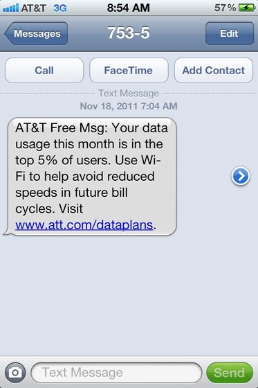 AT&T keeping up pressure on top iPhone data users