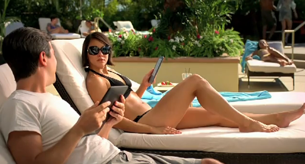 Amazon Kindle bikini ad