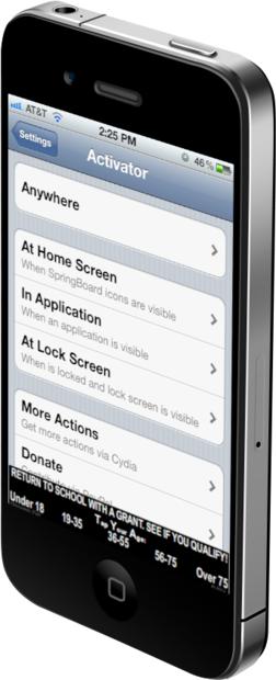 How to set up jailbreak gestures with Activator