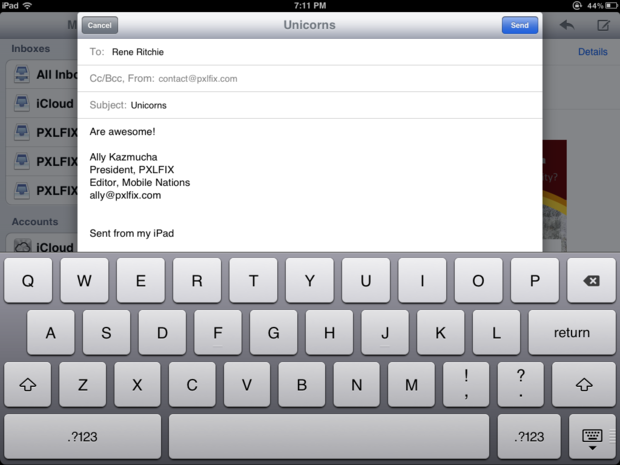 How to compose an e-mail on your new iPad