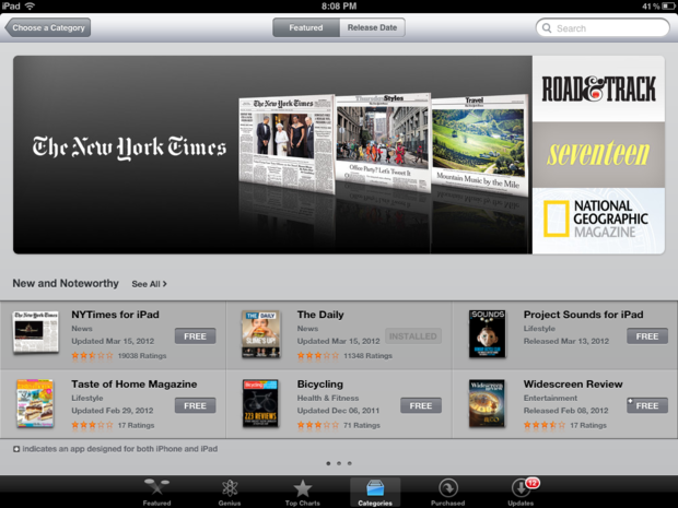 How to sort and browse newsstand magazines from your iPad