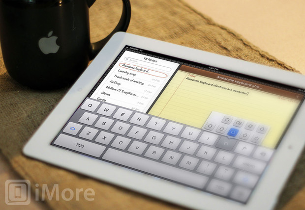 How to rapidly enter numbers, punctuations, and other keyboard shortcuts on your new iPad