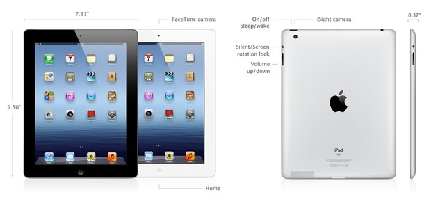 Complete specs for the new iPad