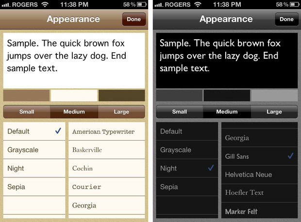 Drafts comes with 4 themes and a selection of 13 fonts so you can craft your environment as meticulously as your ideas.